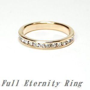 フルエタニティリング ラインストーン ゴールド 指輪・R-1777|tomine