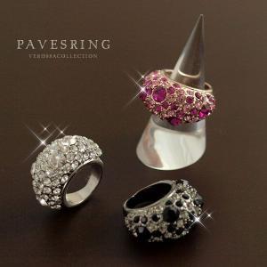 ドバイの女王風ゴージャスボリュームリング 極上の輝きのクリスタル使用!(SL-1136)|tomine