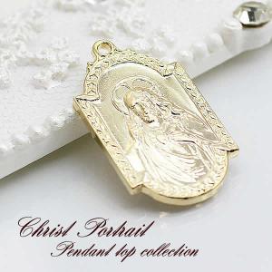 (メール便可) キリストとマリアがモチーフ・表裏柄が違う・18金鍍金のペンダントトップ/コイン/Sv-2533|tomine