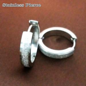 ステンレスフープピアス ペア(2個セット)  19.5mmx4mm ステンレスピアス シルバー ピアス|tomine