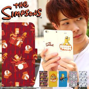 iPhone 7 手帳型 ケース The Simpsons公認 iPhone SE iPhone 6S Xperia AQUOS Galaxy ARROWS 他 スマホ 人気 ザ・シンプソンズ ミュージック デザイン