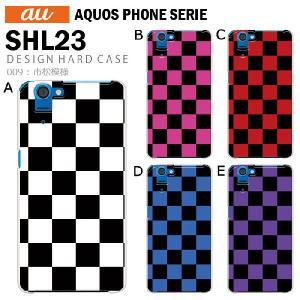 AQUOS PHONE SERIE SHL23 スマホ カバー ケース ジャケット AQUOS PHONE SERIE SHL23 スマホケース ケース カバー デザイン 市松模様 tominoshiro