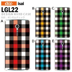 isai LGL22 スマホ カバー ケース ジャケット isai LGL22 スマホケース ケース カバー デザイン ギンガムチェック|tominoshiro