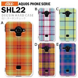 AQUOS PHONE SERIE SHL22 スマホ カバー ケース ジャケット AQUOS PHONE SERIE SHL22 スマホケース ケース カバー デザイン タータンチェック|tominoshiro