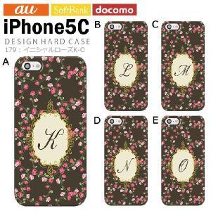 iPhone5C アイフォン5c iphone カバー ケース ジャケット iPhone5C アイフォン5c ケース カバー デザイン/イニシャルローズK-O