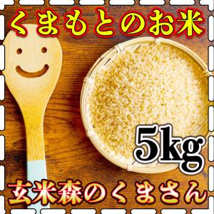 玄米 令和元年産 1年産 2019年産 九州 熊本県産 森のくまさん 5kg くまもとのお米 bro...