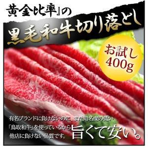 黒毛和牛肉 訳あり 400g 切り落とし 送料無料 端っこ お試し すき焼き肉