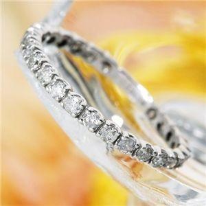 K18WG(18金ホワイトゴールド)ダイヤリング エタニティリング(指輪)計0.5ct 125401...