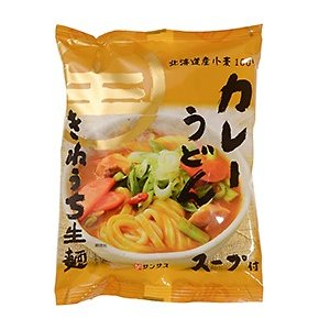 サンサスきねうち生麺 カレーうどん / 233g TOMIZ(富澤商店) 和食材(加工食品・調味料) 乾麺・半生麺