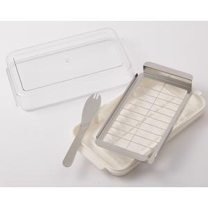 ステンレスバターカッター&ケース / 1個 TOMIZ(富澤商店) 分割・切る・包あん パンナイフ・食パンカットガイド|tomizawa