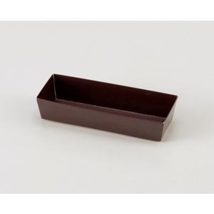 カラートレー 165 ブラウン / 10枚 TOMIZ/cuoca(富澤商店) ベーキングカップ パウンド焼成紙型・ベーキングトレー tomizawa