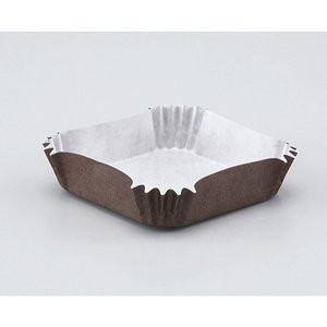 純白ペット 茶角 78×78×20H / 300枚 TOMIZ/cuoca(富澤商店) ベーキングカップ グラシンカップ tomizawa