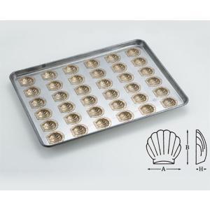 シリコン加工 ほたて貝型(小)天板 36面 / 1枚 TOMIZ(富澤商店) お菓子作りの型 マドレーヌ・フィナンシェ 天板型(フレンチ・6取サイズ)|tomizawa