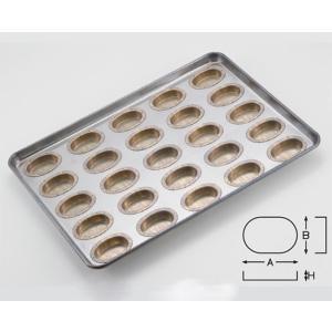 シリコン加工 オーバル型天板 25面 / 1枚 TOMIZ(富澤商店) お菓子作りの型 マドレーヌ・フィナンシェ 天板型(フレンチ・6取サイズ)|tomizawa