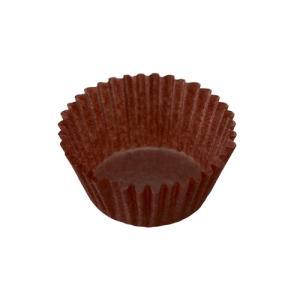 ミニマフィン型用グラシンケース(茶) / 120枚 TOMIZ/cuoca(富澤商店) ベーキングカップ グラシンカップ|tomizawa