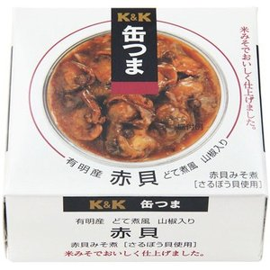 ちょっと贅沢なおつまみ缶詰 K&K缶つま 赤貝どて煮風 山椒...
