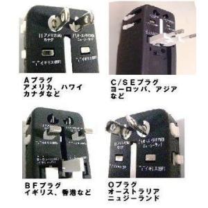変換プラグ搭載 海外旅行用変圧器 『 楽ぷら RX-30 』110V-240V対応30W 即日発送OK|tommyz|02