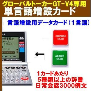 グルーバルトーカー GT-V4,GT-V5用『1言語増設メモリカード V4-GLC-SINGLE』