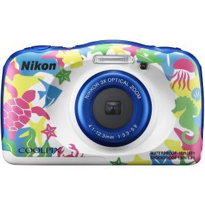 中古 美品 Nikon COOLPIX W100 マリン デジタルカメラ 防水 ニコン 女子 デジカ...