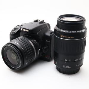 Canon EOS Kiss デジタル X ダブルズームキット ブラック 一眼レフ デジタル 一眼レ...