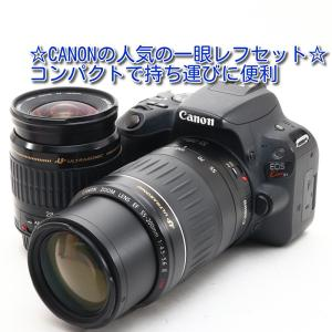 中古 美品 Canon EOS Kiss X9 ダブルズームセット キャノン 一眼レフ カメラ 人気...