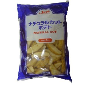 (要冷凍)JFDA ナチュラルカットポテト 1kg×12袋入り(1箱) クール代・送料無料|tomoda