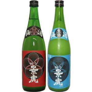 (1月下旬頃入荷・予約商品)越乃景虎梅酒・かすみ酒 720ml飲み比べ2本セット|tomoda