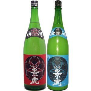 (1月下旬頃入荷・予約商品)越乃景虎梅酒・かすみ酒 1800ml飲み比べ2本セット|tomoda