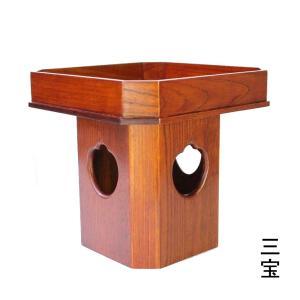 木製 仏具 三宝のみ1尺(30cm)欅木スリ漆(受注生産)|tomoe3