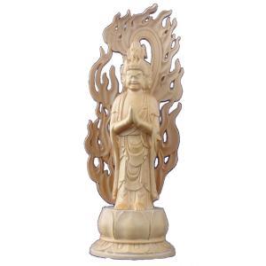 木彫仏像 馬頭観音立像身丈2.5寸火炎光背(容器)蓮台柘植 ツゲ(受注生産)|tomoe3