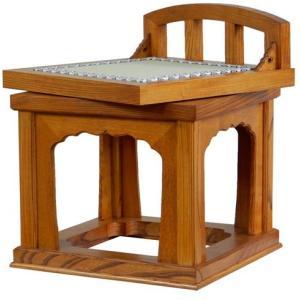 木製仏具/導師机3.0尺用回転椅子タモ材スリ漆(受注生産)|tomoe3