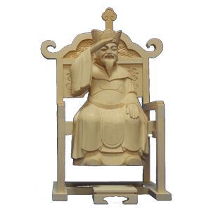 木彫仏像/大権大師(大権修利菩薩)21cm桧木|tomoe3