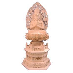 仏像 木彫り 大日如来座像身丈8寸90cm草光背六角台桧木(受注生産)|tomoe3