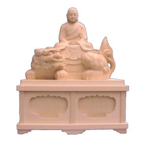 仏像 木彫り 僧形文殊60cm四角台桧木(受注生産)|tomoe3