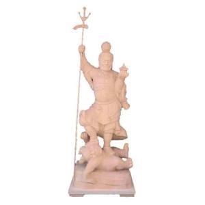 仏像 木彫り 毘沙門天立像身丈2.6尺総高125cm桧木(受注生産) tomoe3