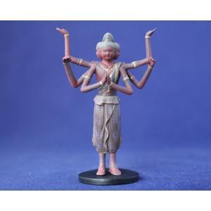 仏像フィギュア 阿修羅身丈2.0寸総高7.5? 素材PVC