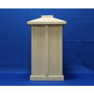 木製仏具/白木厨子22*22*38cm桐|tomoe3