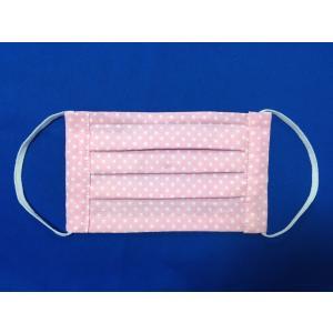 マスク 日本製 布 ガーゼ 肌に優しい給食 花粉症対策 手洗いOK 手作りパステルピンク柄色 自社製造品|tomoe3