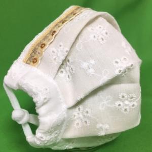 マスク 子供用 日本製 布 ガーゼ 肌に優しい 給食 花粉症対策 手洗いOK 手作り自社製造品 ワイヤー  フィットする 柄マスク 姉妹ペア可愛レースマスク|tomoe3