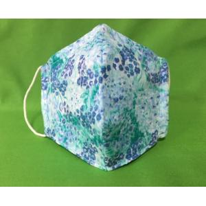 マスク日本製 夏用 涼しい 洗える 夏対策 女性 冷感 おしゃれ 立体 ワイヤー浴衣 海 公園 キャンプ大自然に合うローン草柄マスク |tomoe3
