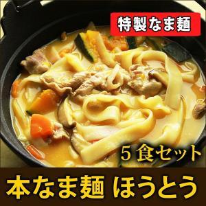 本なま麺 ほうとう 5食分 (※出し味噌は付きません)  信州ほうとう 鍋ほうとう 業務用 ほうとう鍋 味噌味ほうとう山梨 郷土料理