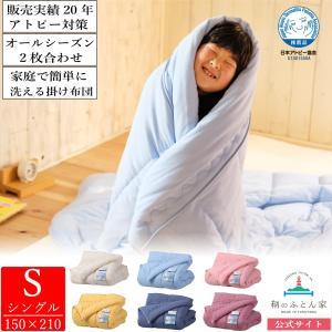 掛布団 2枚わせ 日本アトピー協会推薦品 シングル 日本製アレルギー・アトピー対策 丸洗いできる