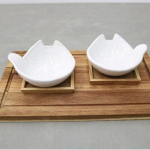 猫雑貨 かわいい猫モチーフ とんすい 陶器 笠間焼 選べる2種 セットも可|tomonyanshop2