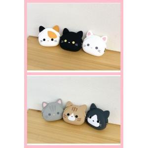 猫雑貨 ミミポチフレンズ ミニポーチ 小銭入れ  猫顔 6種|tomonyanshop2