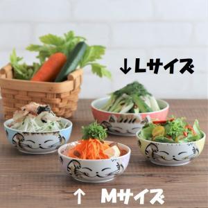 猫雑貨 福猫シリーズ パック小鉢Mサイズ 美濃焼 2枚セット 5色 選べるフタ付き|tomonyanshop2