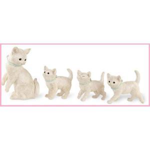 猫雑貨 ガーデンオーナメント ファミリーキャット 4匹セット|tomonyanshop2
