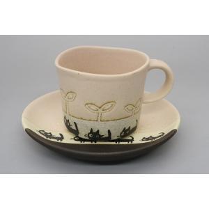 猫雑貨 黒ネコシリーズ パステルカラーのコーヒーカップ&ソーサー 3色 人気商品|tomonyanshop2