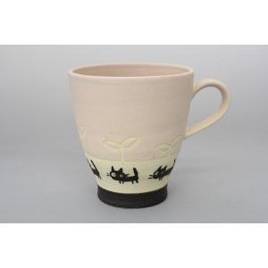 猫雑貨 黒ネコシリーズ パステルカラーのマグカップ 3色 人気商品|tomonyanshop2