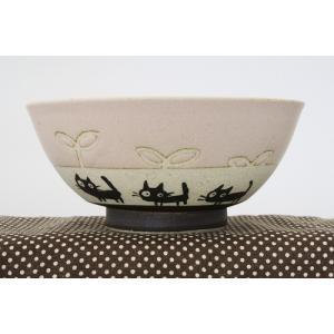 猫雑貨 黒ネコシリーズ パステルカラーの茶碗 3色 人気商品|tomonyanshop2