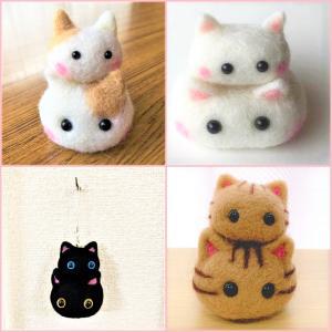 猫雑貨 ねこのかがみもち キーホルダー インテリア ファッション 茶・ピンク・黒・トラ|tomonyanshop2